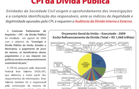 Principais investigações da CPI da Dívida e demandas da sociedade civil