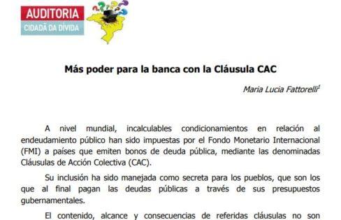 Más poder para la banca con la Clausula CAC – Maria Lucia Fattorelli