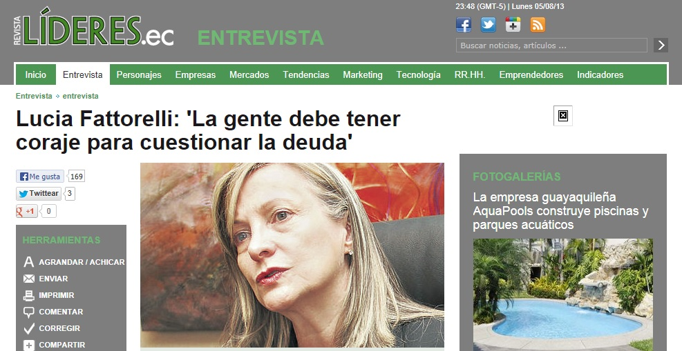 Revista do Equador entrevista Fattorelli