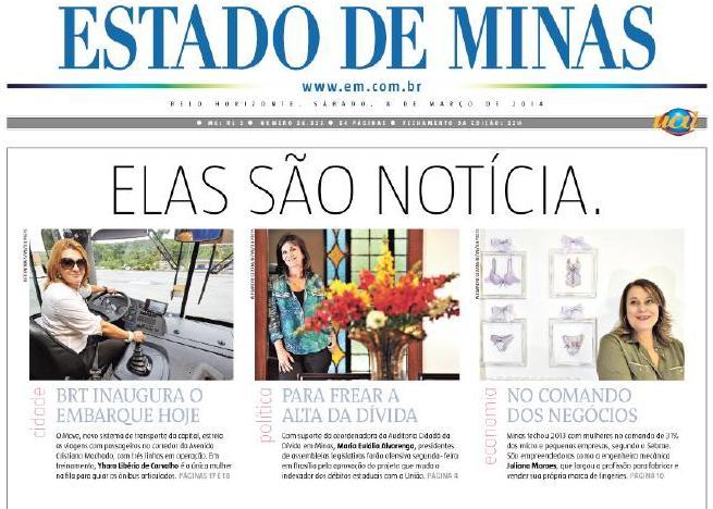 637a71de76 Coordenadora do Núcleo MG é capa do jornal Estado de Minas ...