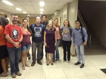 Integrantes do Núcleo DF da Auditoria Cidadã da Dívida participam da Ampliada dos Servidores Públicos Federais que ocorreu no hotel Brasília Imperial
