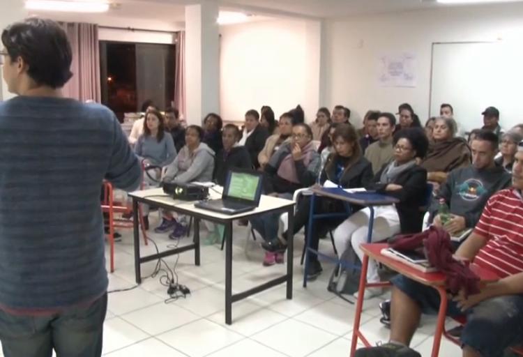 NÚCLEO SANTA CATARINA LEVA DEBATE A EDUCAÇÃO DE JOVENS E ADULTOS