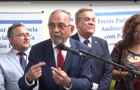 Vídeo Completo da Cerimônia de Lançamento da Frente Parlamentar Mista pela Auditoria da Dívida Pública com Participação Popular