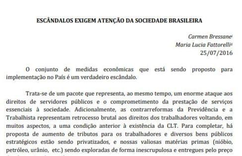 Escândalos Exigem Atenção da Sociedade Brasileira – Maria Lucia Fattorelli e Carmen Bressane