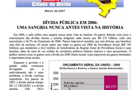 Jornal Auditoria Cidadã – março/2007