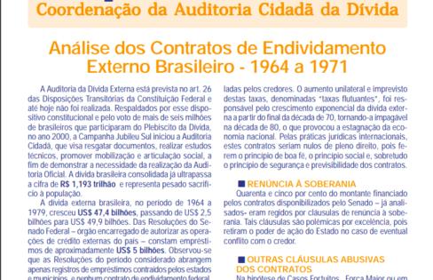 Resultado da Análise dos Contratos de Endividamento – 2003