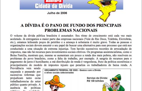 Jornal Auditoria Cidadã – julho/2006