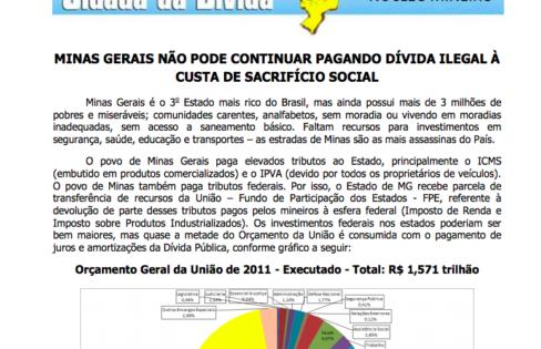 INFORMATIVO DO NÚCLEO MINEIRO DA AUDITORIA CIDADÃ DA DÍVIDA – 13/2/2012