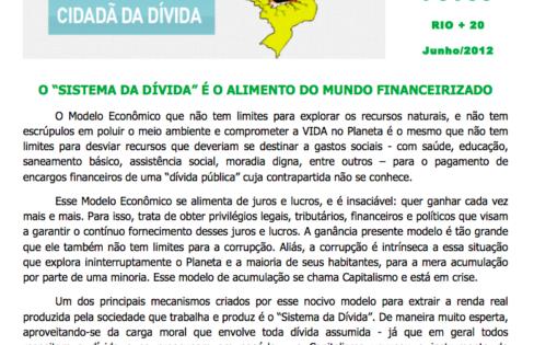 INFORMATIVO DA AUDITORIA CIDADÃ NA CÚPULA DOS POVOS – RIO + 20