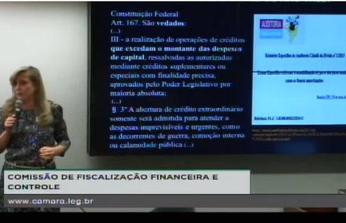 Fattorelli participa de Comissão de Fiscalização Financeira e Controle