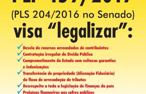 Folheto explica PLP 459/2017, que trata da securitização de créditos