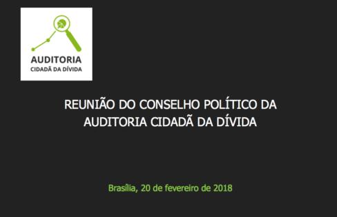 REUNIÃO DO CONSELHO POLÍTICO DA  AUDITORIA CIDADÃ DA DÍVIDA