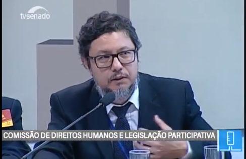 Seminário Internacional: Audiência Pública na CDH do Senado- Alessandro Caldeira (TCU)