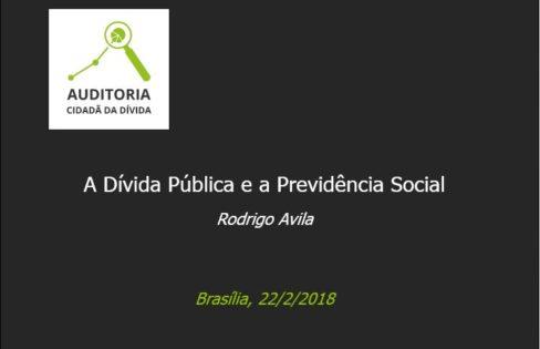 "Palestra ""A Dívida Pública e a Previdência Social"" – Rodrigo Ávila – MAS – Brasília"