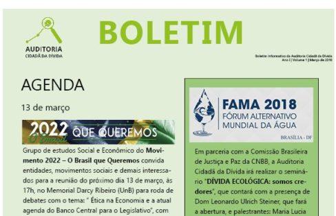 Boletim Informativo, Ano 1, Volume 1 – 2018
