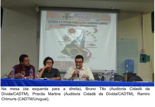 """Núcleo Bahia promove palestra na UEFS/BA sobre """"A atual crise e a dívida pública na América Latina: Experiências e  Alternativas"""""""