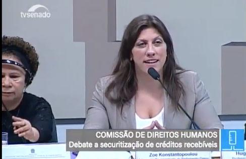 Seminário Internacional: Audiência Pública realizada na CDH do Senado Federal com Zoe Konstantopoulou
