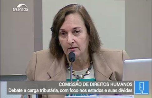 Carmen Bressane na Audiência Publica da CDH do Senado