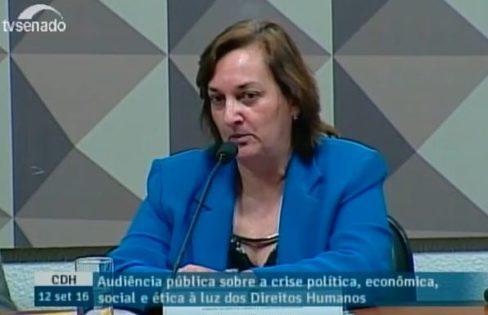 Palestra na CDH do Senado com Carmen Bressane sobre PLS 204/2016