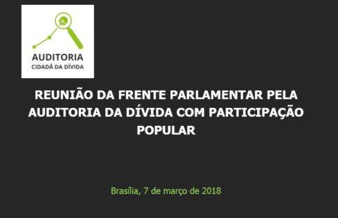 Palestra – Reunião da Frente Parlamentar pela Auditoria da Dívida com Participação Popular – Brasília