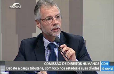 Josué Martins na Audiência Publica da CDH do Senado
