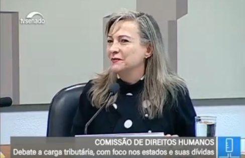 Maria Lucia Fattorelli na Audiência Publica da CDH do Senado