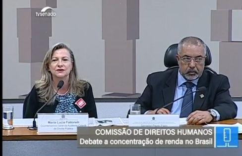 """Palestra: """"Concentração de renda no Brasil"""" – Maria Lucia Fattorelli – Comissão de Direitos Humanos do Senado"""