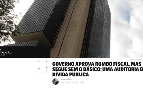 """The Intercept: """"Governo aprova rombo fiscal, mas segue sem o básico: uma auditoria da dívida pública"""", com Maria Lucia Fattorelli"""