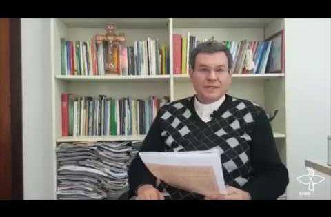 Mensagem do bispo dom Severino Clasen durante lançamento da cartilha sobre dívida pública