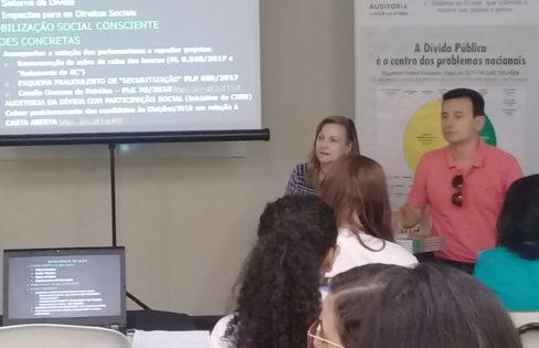 """Palestra: """"Os impactos do financiamento da dívida pública no Sistema Único de Saúde"""" – Maria Lucia Fattorelli – 70º Reunião Anual SBPC"""