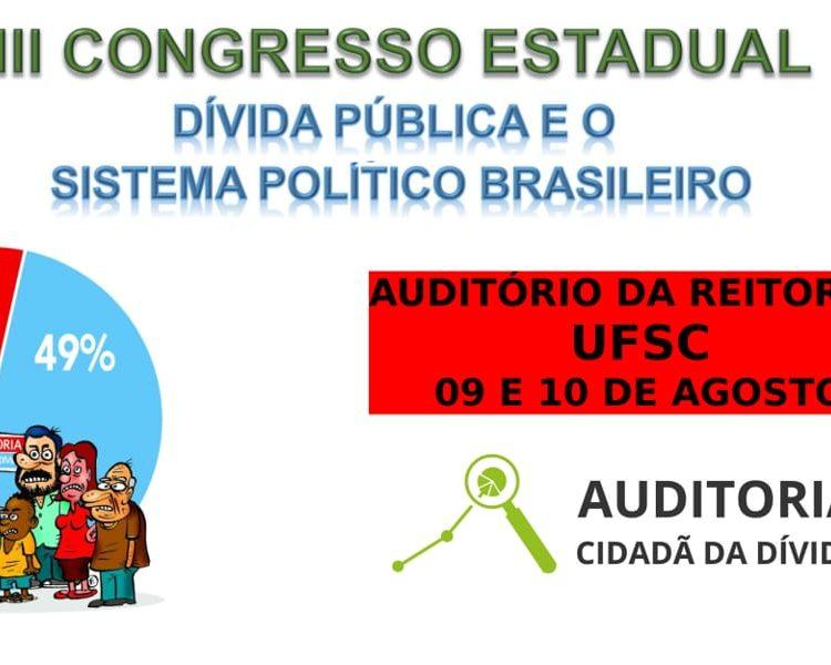 III Congresso Estadual de Auditoria Cidadã da Dívida, em Florianópolis