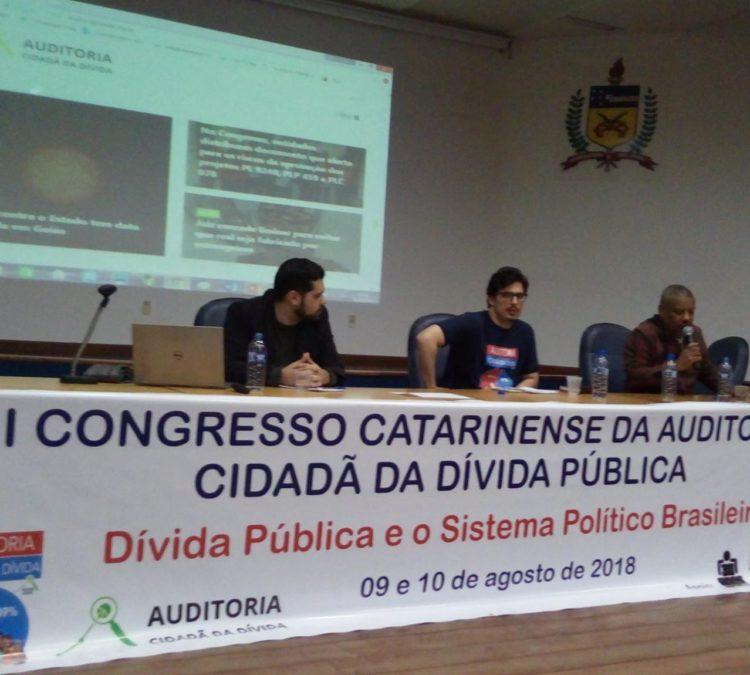 Mais de 300 inscritos no III Congresso Catarinense 2018 de Auditoria Cidadã da Dívida