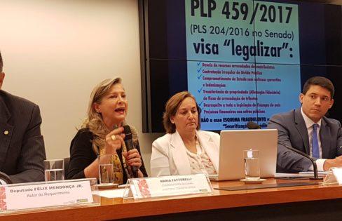 """Palestra: PLP 459/2017 – """"SECURITIZAÇÃO DE CRÉDITOS"""" – Maria Lucia Fattorelli – Audiência Pública Comissão de Finanças e Tributação Câmara dos Deputados"""