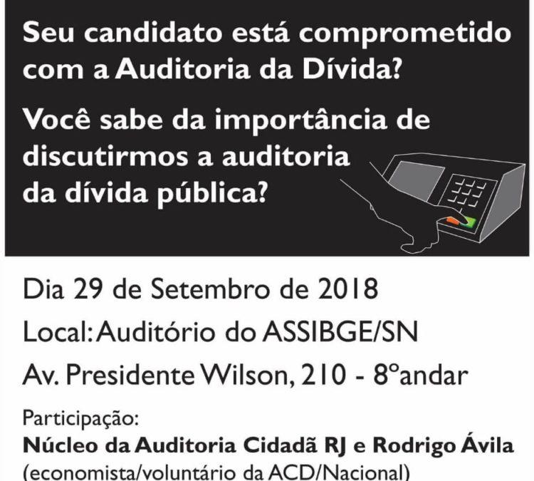 """Núcleo Rio de Janeiro promove oficina para debater: """"Seu candidato está comprometido com a Auditoria da Dívida?"""""""