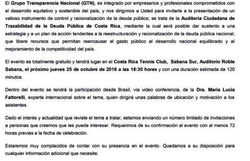 Auditoria Cidadã é convidada para participar de debate sobre a Dívida Pública na Costa Rica