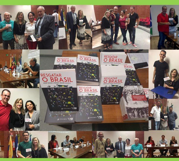 """Em lançamento do livro """"Resgatar o Brasil"""", autores reforçam necessidade de construção de um roteiro para sair do caos político, social e econômico"""