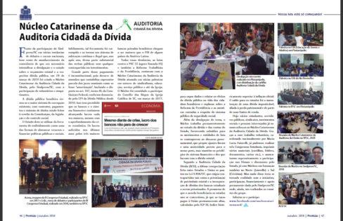 Revista Previsão traz relato sobre a atuação do núcleo catarinense da Auditoria Cidadã da Dívida