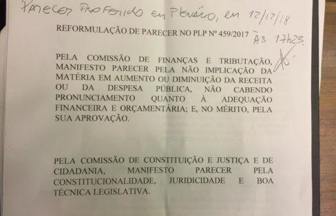 """Esquema da """"Securitização"""": parecer do Deputado Alexandre Leite (DEM/SP) ao PLP 459/2017 viola a Constituição"""