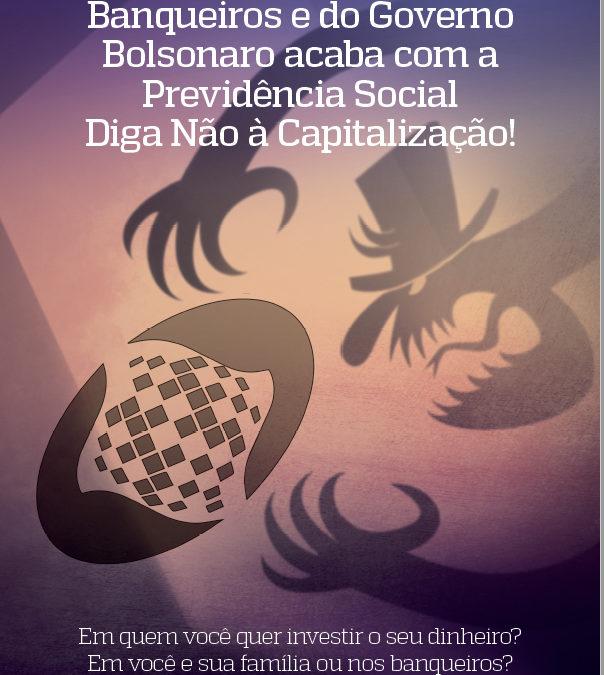 """Núcleo capixaba elabora cartilha """"A Contrarreforma dos Banqueiros e do Governo Bolsonaro acaba com a Previdência Social – Diga Não à Capitalização!"""""""