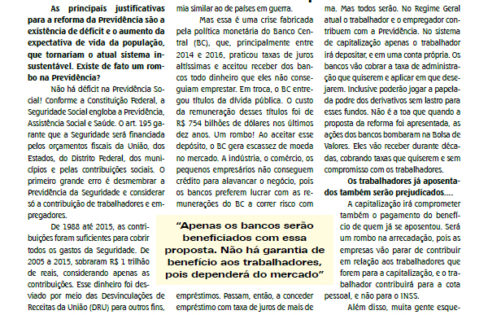 "Entrevista: ""Reforma é injusta e descabida"", afirma Fattorelli ao Correio Bancário"