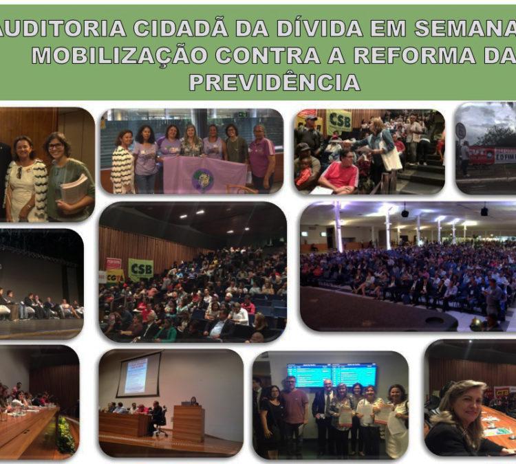 Auditoria Cidadã da Dívida em semana de mobilização contra a Reforma da Previdência