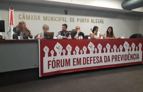"""Palestra: """"O desmonte da previdência a serviço do sistema da dívida"""", M.L Fattorelli – Porto Alegre"""