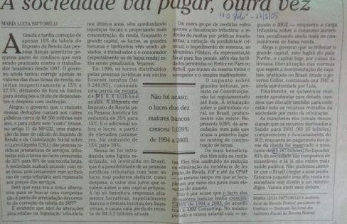 """O Globo: """"A sociedade vai pagar a conta, outra vez"""", M.L Fattorelli"""