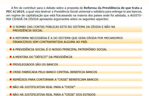 """Documento: """"A previdência social é o maior patrimônio social do Brasil"""""""