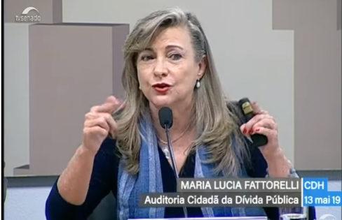 """Palestra: """"A reforma da previdência e o sistema da dívida"""", M.L.Fattorelli – Audiência Pública na CDH do Senado"""