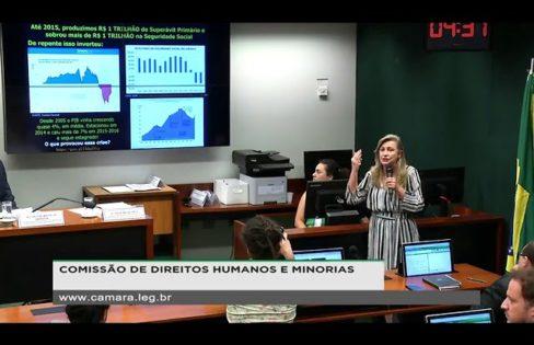 """""""O déficit nominal não está na previdência social"""", afirma Fattorelli durante reunião na CDH"""