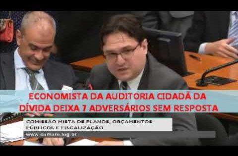 Economista da Auditoria Cidadã da Dívida enfrenta 7 debatedores e deixa todos sem resposta