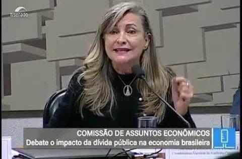 No Senado, Fattorelli fala sobre o papel da dívida pública na economia brasileira