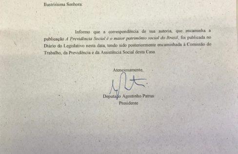Assembleia de Minas Gerais encaminha carta da Auditoria Cidadã sobre previdência social e dívida dos estados a Comissão da Casa