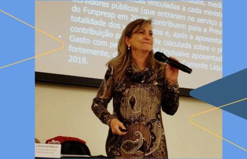 """Palestra: """"A Reforma da Previdência: Impactos para servidores públicos"""", M. L. Fattorelli – AFFEMG – SINDIFISCO/MG – Belo Horizonte/MG"""